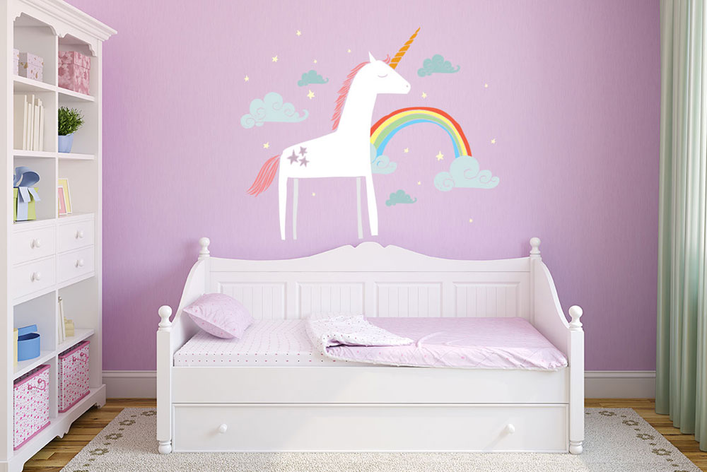 Cute Kids Room add color with wall decals