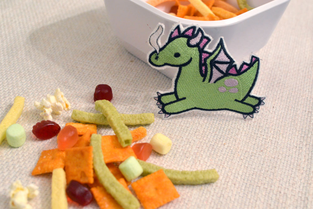 Pete's Dragon inspired dragon chow snack for kids