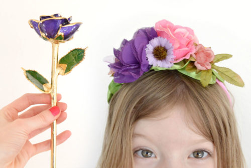 Creative Gift Ideas for Her Eternity Rose and DIY flower headbands