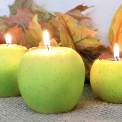 How to Make DIY Apple Candles for Fall