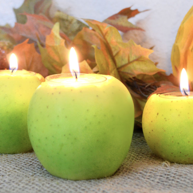 Cute and easy do it yourself carved apple candles
