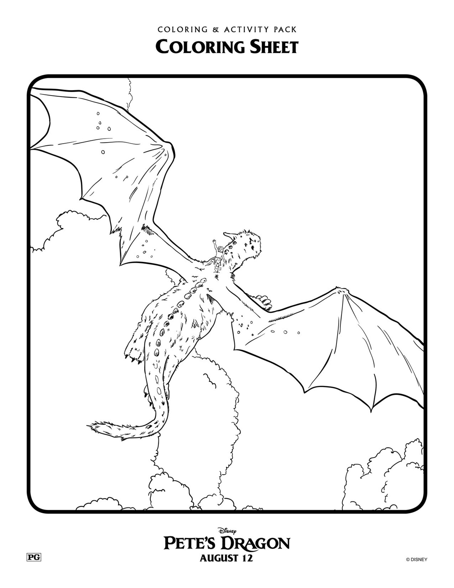 Kids' Pete's Dragon coloring pages