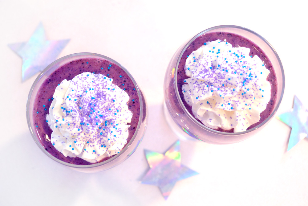 Cosmic blueberry sprinkle smoothie kids snack