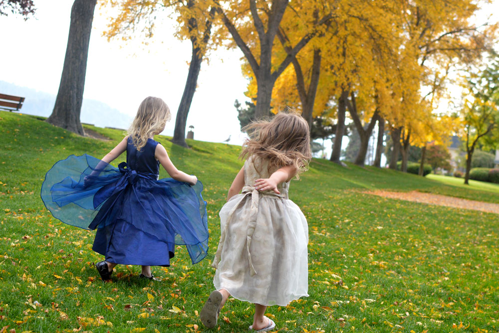 Playing at the park in Just Unique Boutique dresses for girls