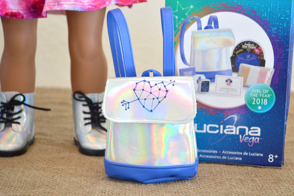 Luciana Vega American Girl doll holographic space backpack