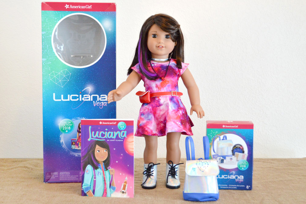 Luciana Vega American Girl Space doll and book set