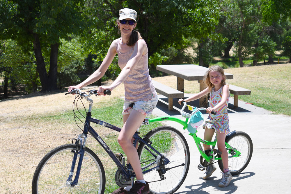 California family adventure road trip bike ride