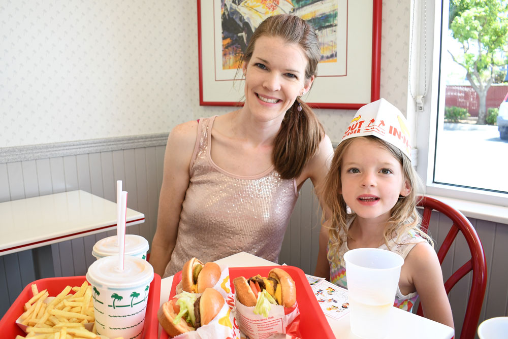 California family adventure road trip In-N-Out Burger