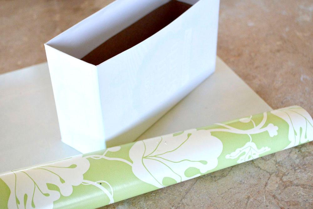 Cute kitchen coupon box organizing idea
