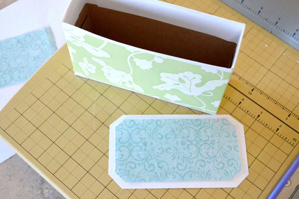 Recycled cardboard box coupon organizing idea