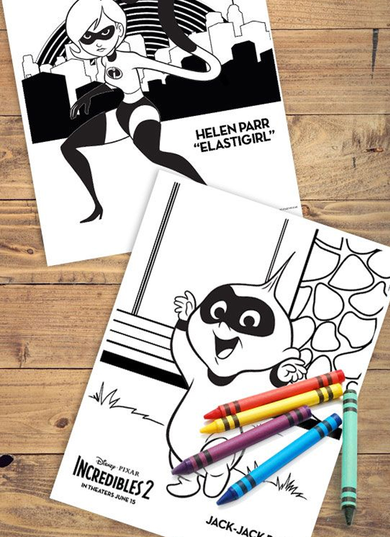 Incredibles 2 Printable Coloring Pages Create Play Travel