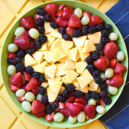How to Make a Shaped Fruit Platter for Any Party
