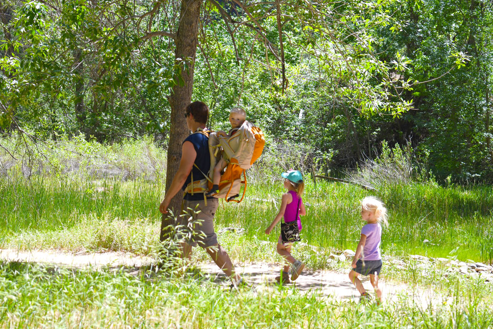 Things to do on a Zion Canyon family adventure hike