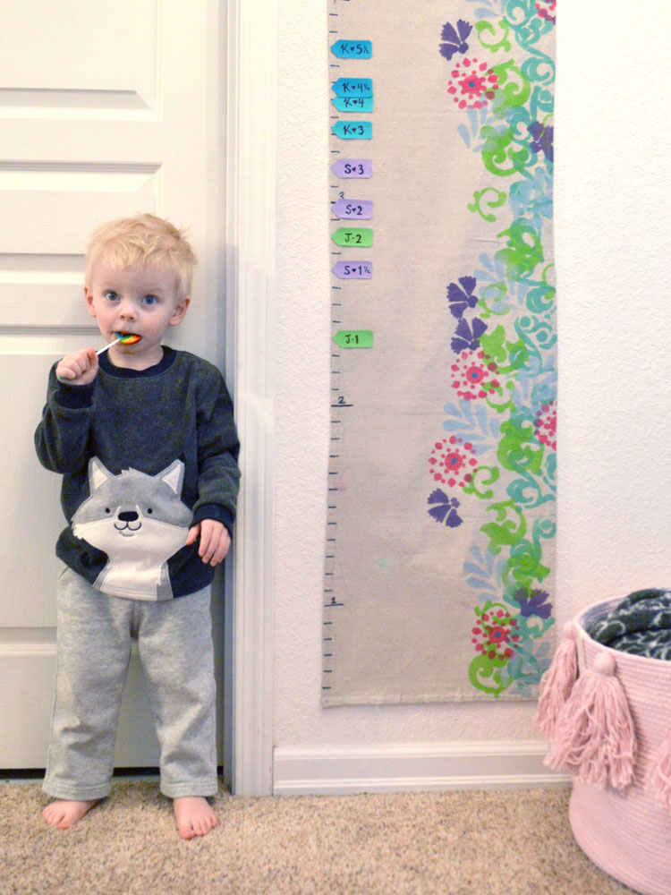 Easy DIY Canvas Growth Chart Craft Project