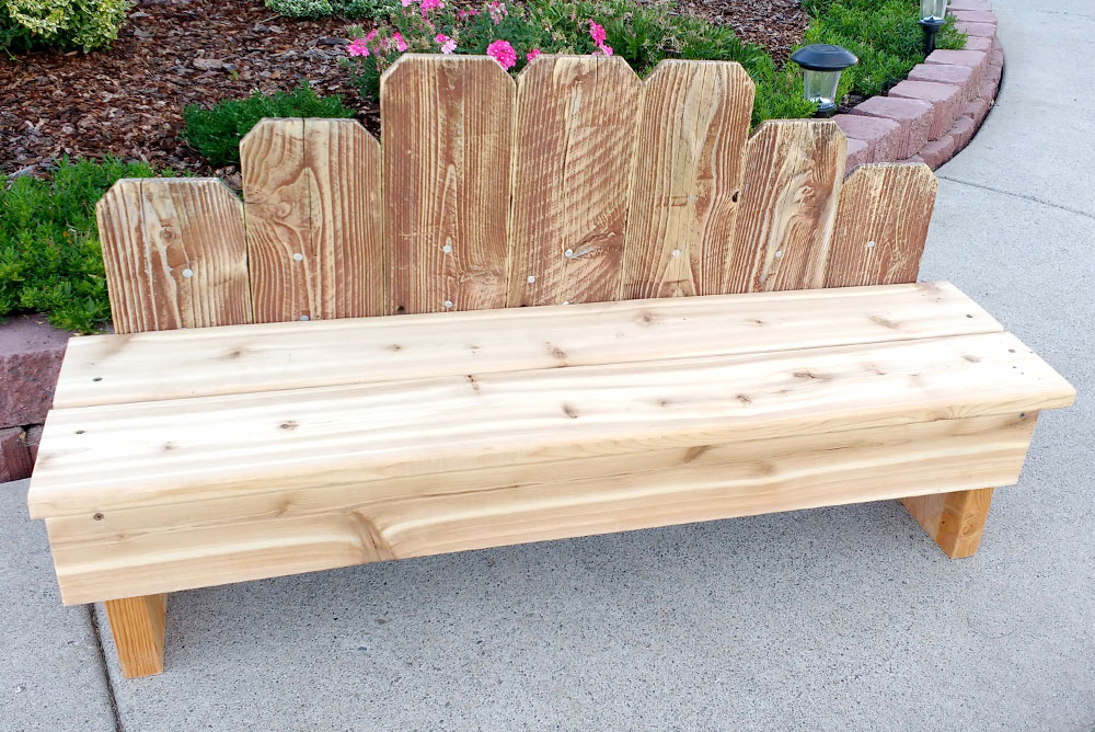 Design and build a DIY Wooden Fence Board Bench