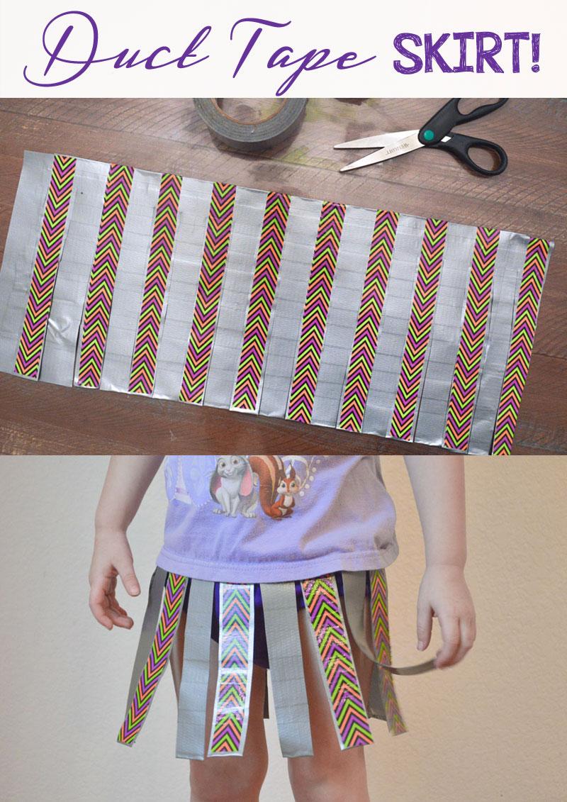 DIY Duct Tape Skirt Fashion Design