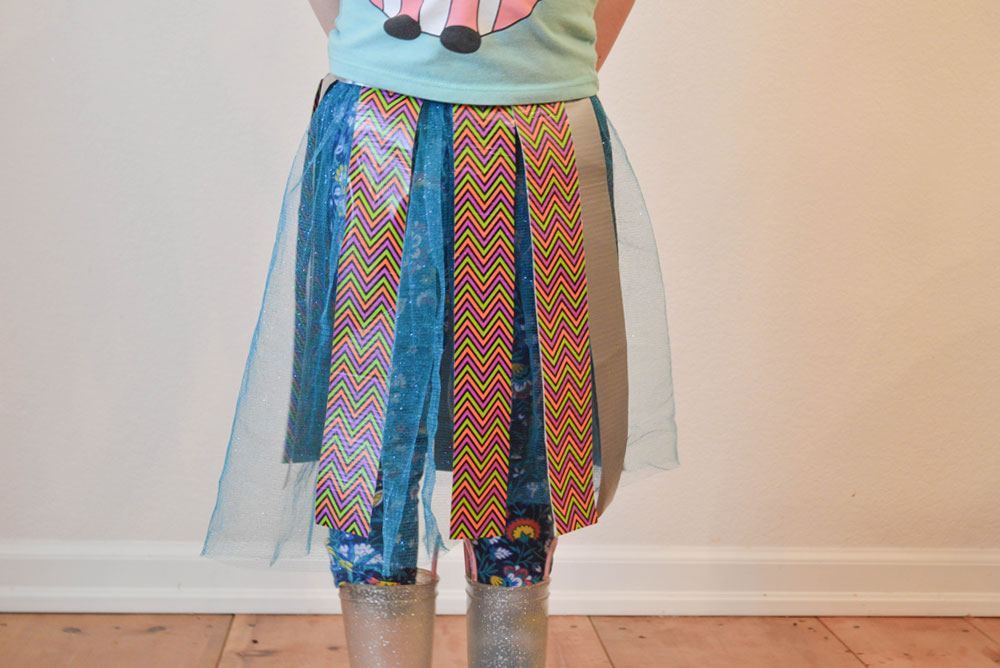 Fun DIY Duct Tape Skirt Kid's Craft