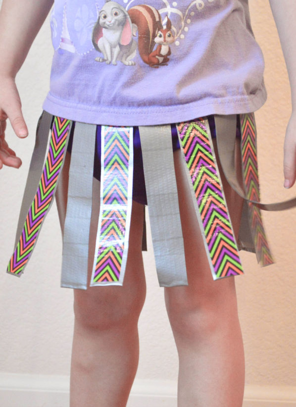 Easy DIY Duct Tape Skirt Craft