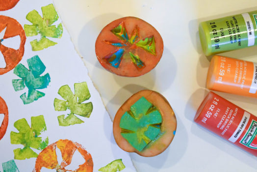 Artsy Potato Stamp Painting for Kids