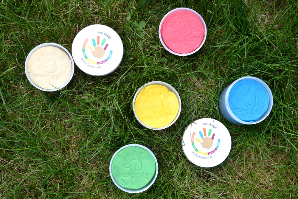 Eco-Friendly art supplies and playdough for creative kids