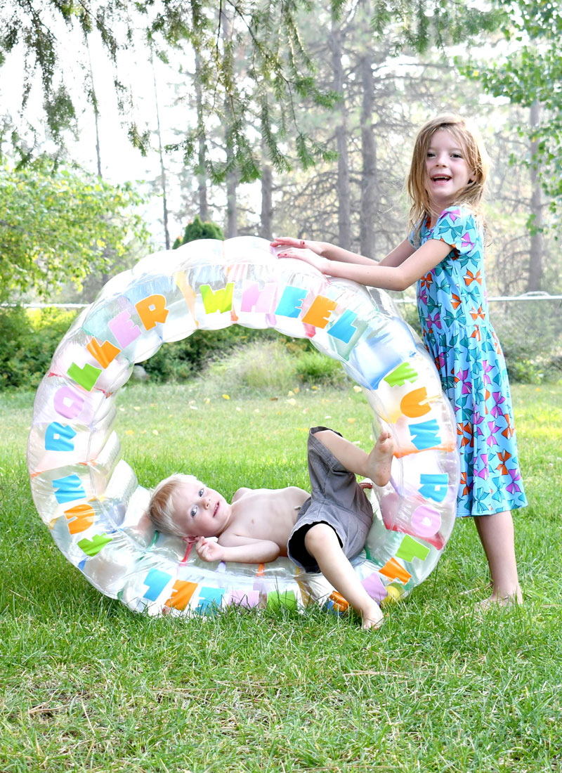 Inflatable Roller Wheel kids activity