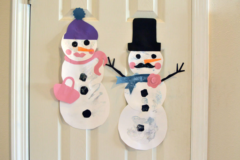 paper snowman kids craft
