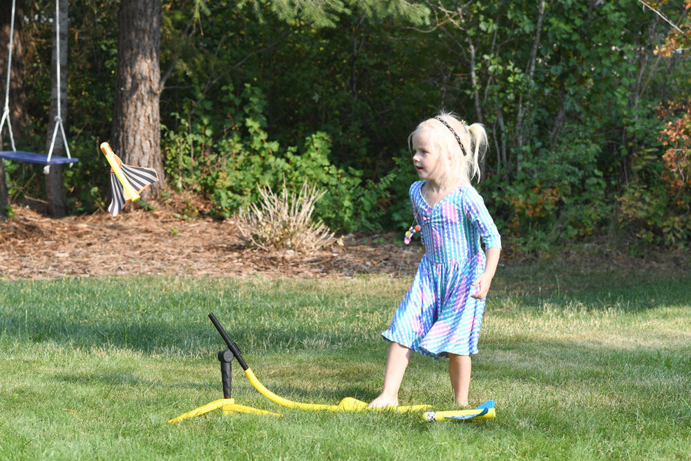 Stomp Rocket Stunt Planes kids activity