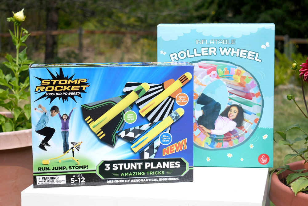 Stomp Rocket and Roller Wheel Kids Activities