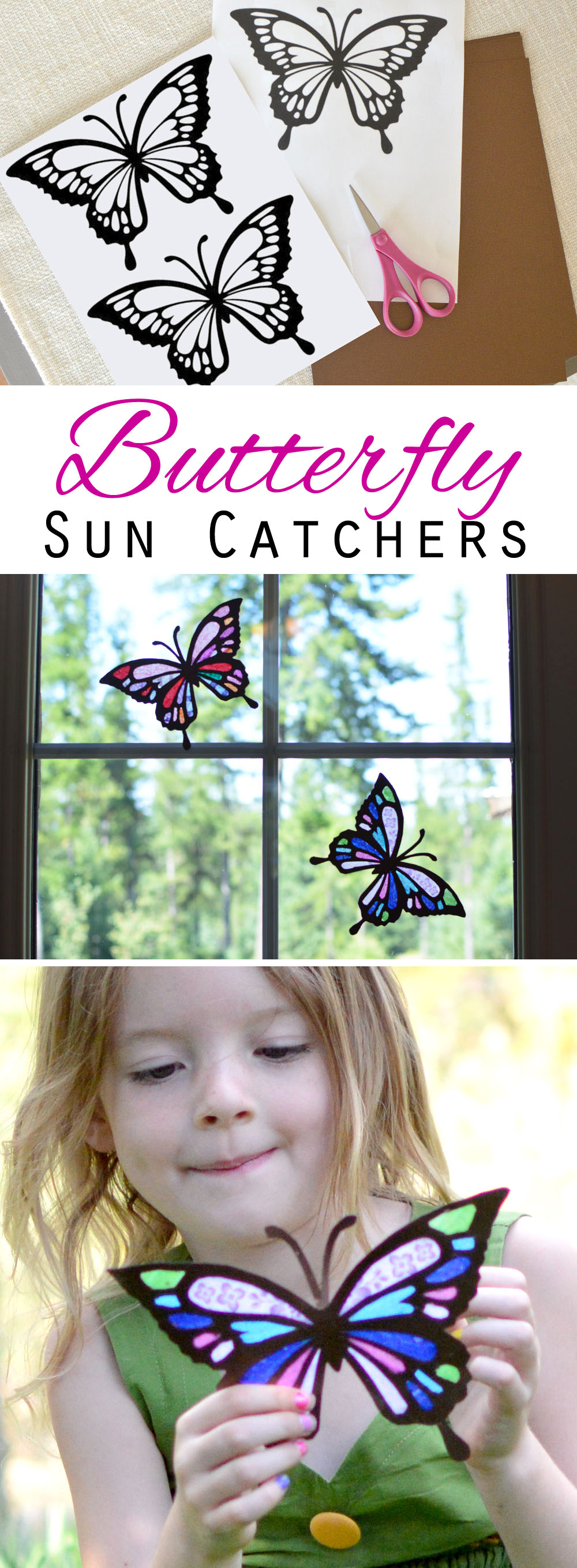 Tissue Paper Butterfly Sun Catchers