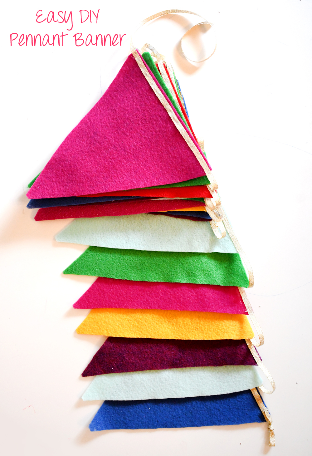 Colorful DIY felt pennant banner