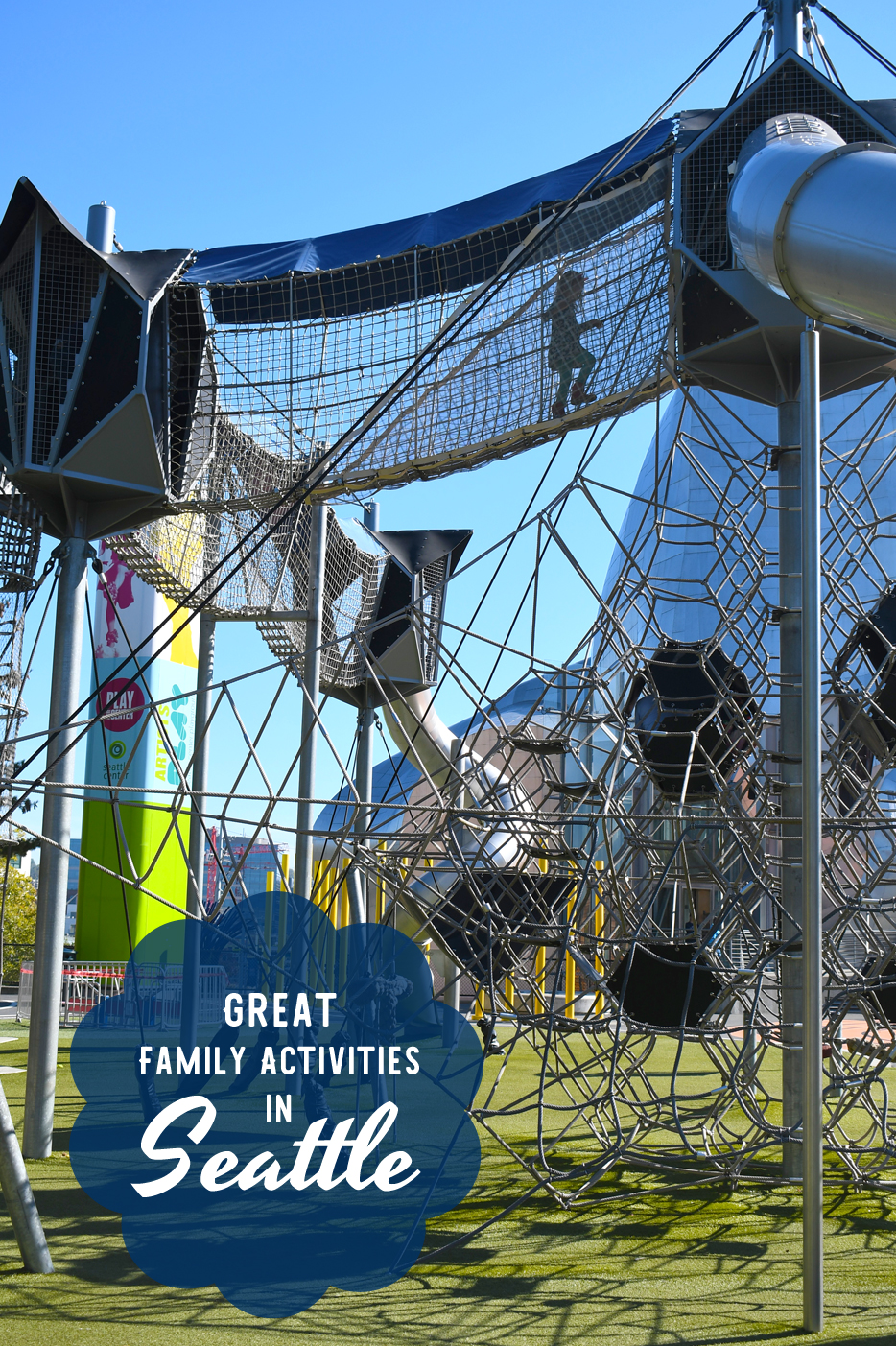 Artist at Play playground and climbing structure - Fun Family Activities in Seattle