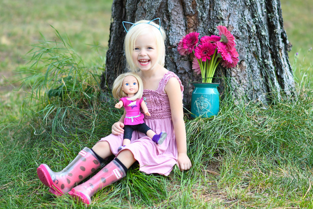 American Girl WellieWishers Camille and rockstar outfit