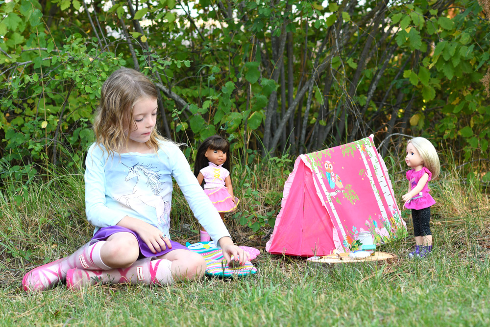 American Girl WellieWishers camping play set