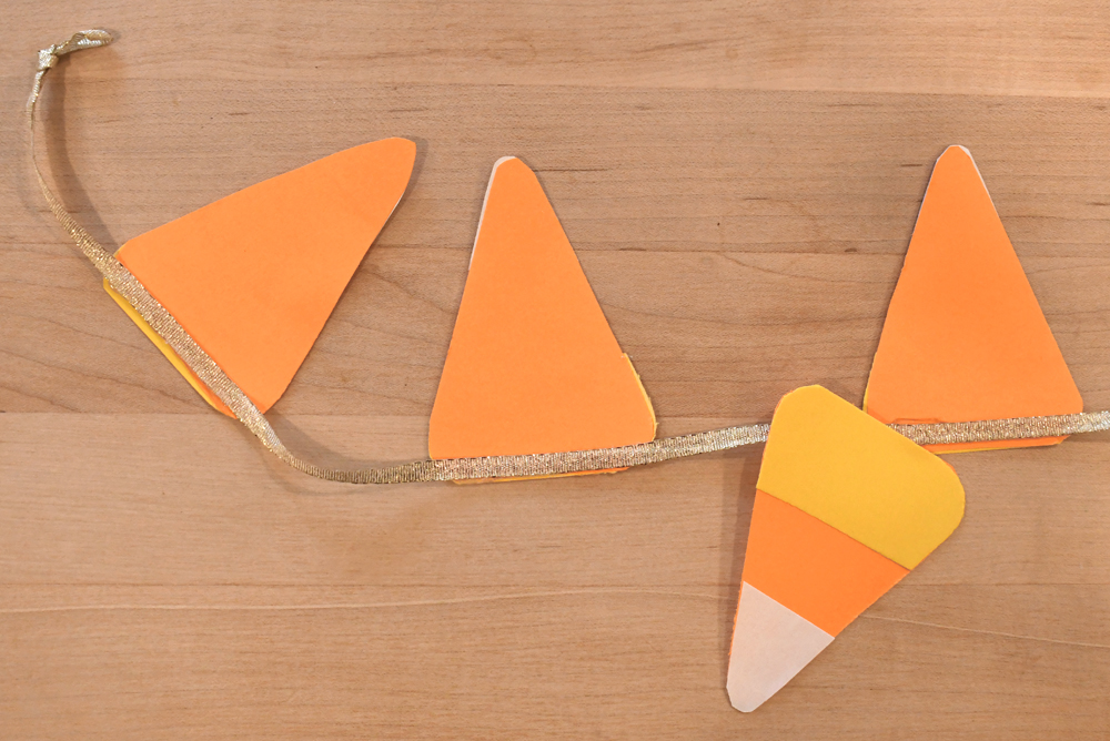 Colorful and Fun DIY Candy Corn Pennant Banner