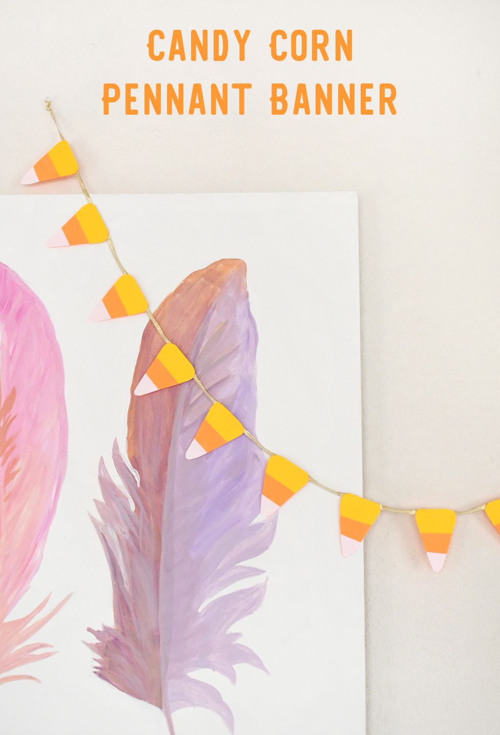 Easy and Cute DIY Candy Corn Pennant Banner Craft