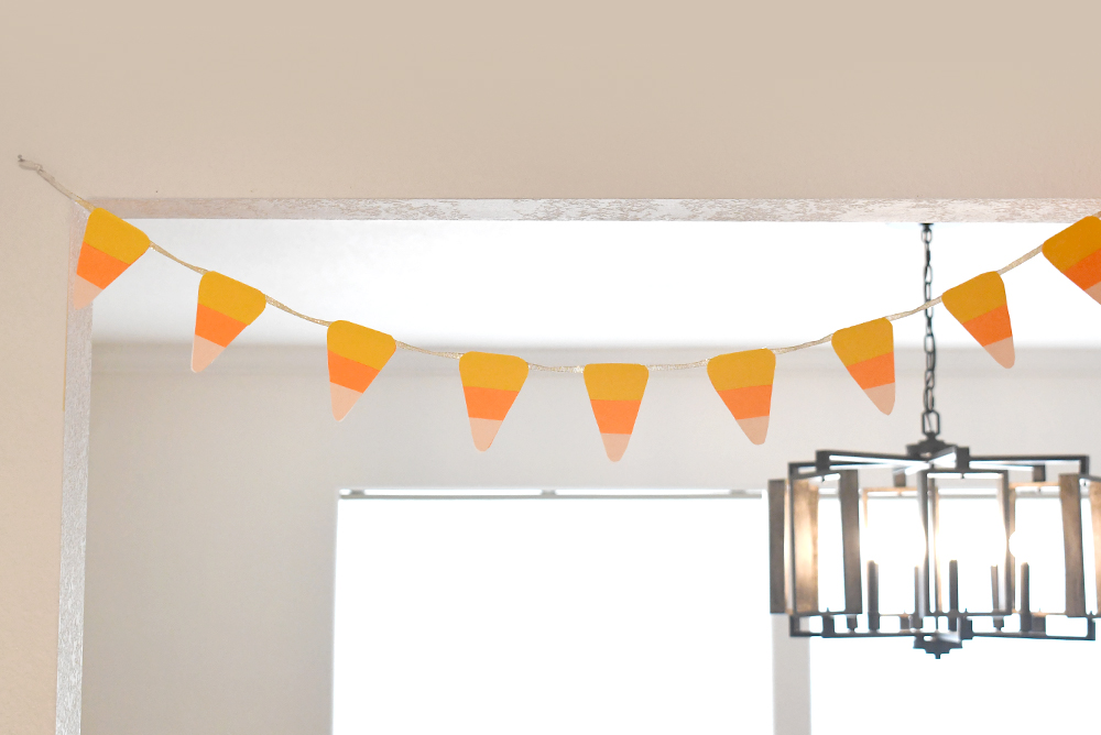Decorate with a Cute DIY Candy Corn Pennant Banner