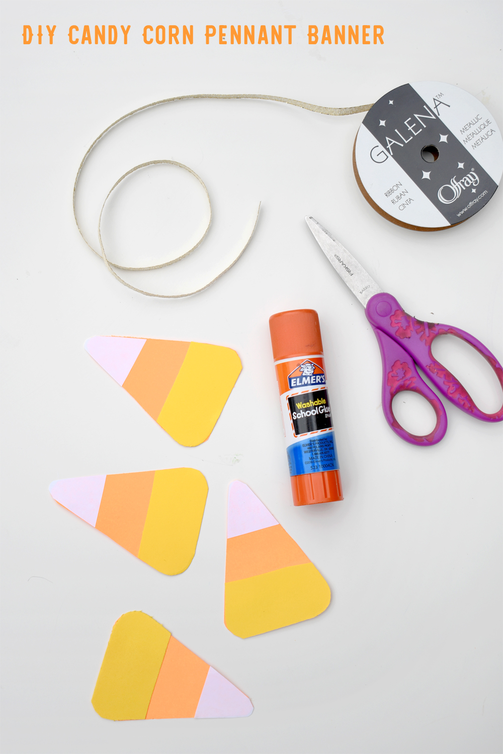 How to make a Cute DIY Candy Corn Pennant Banner