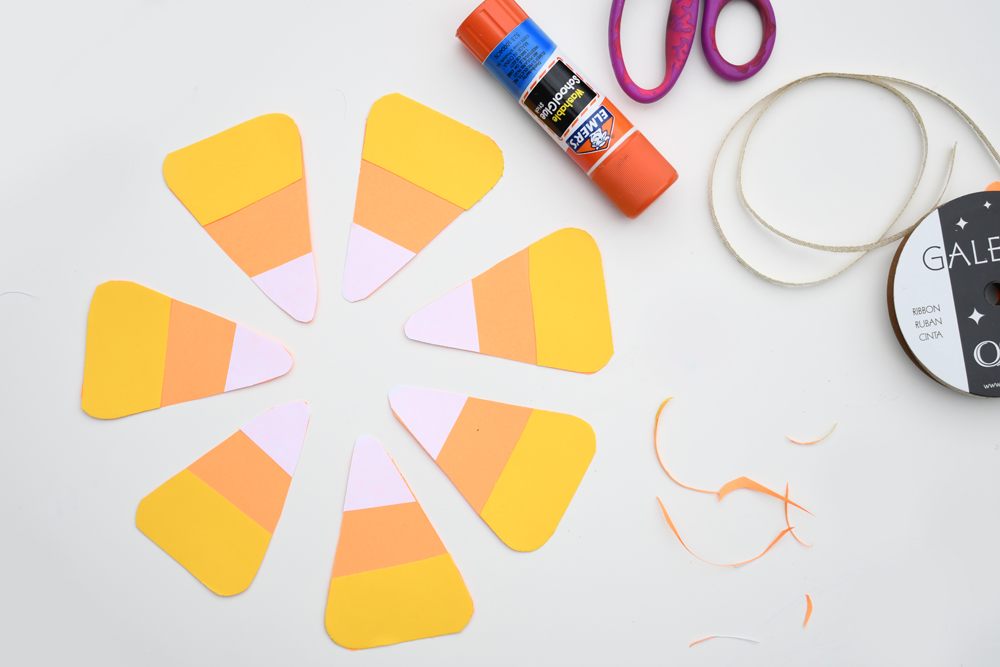 Easy DIY Candy Corn Pennant Banner