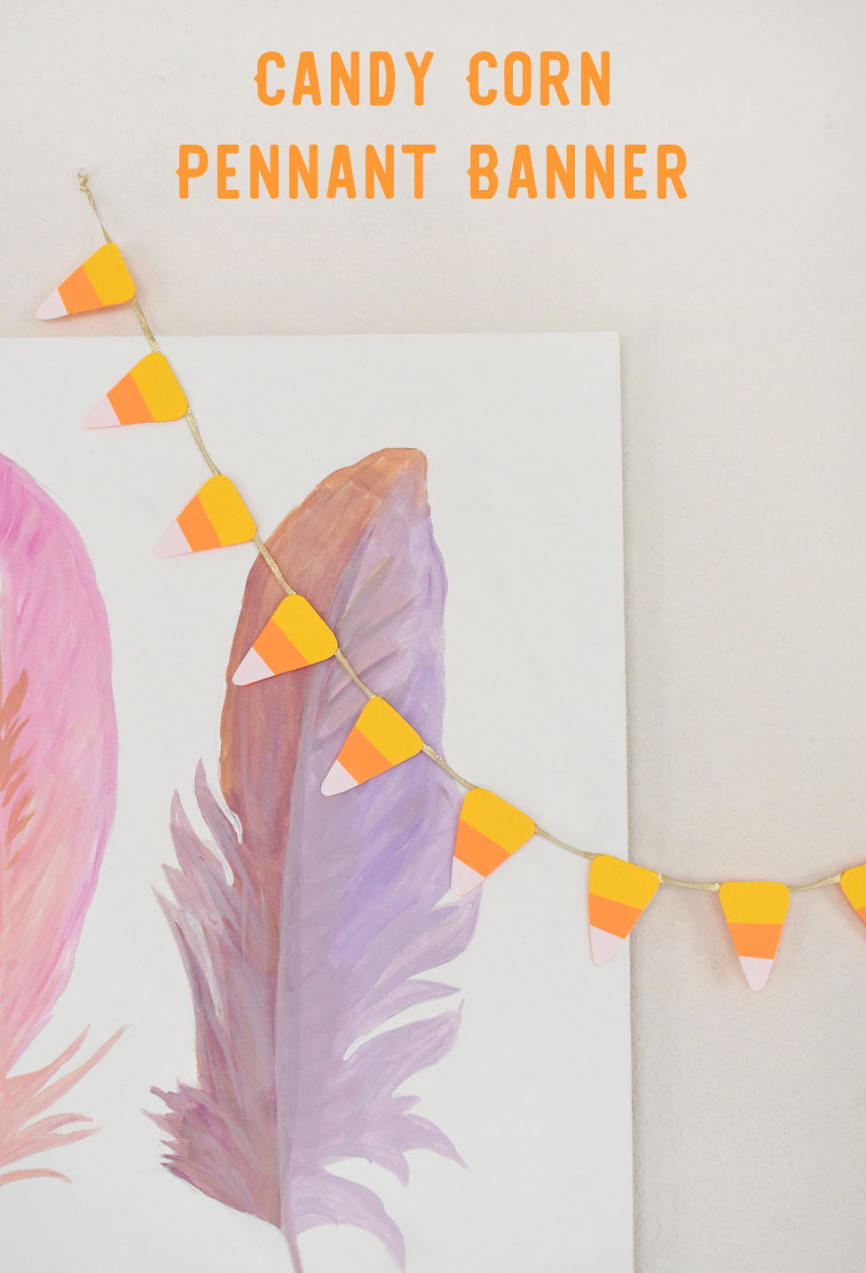 Creative DIY Halloween Decorations Candy Corn Pennant Banner
