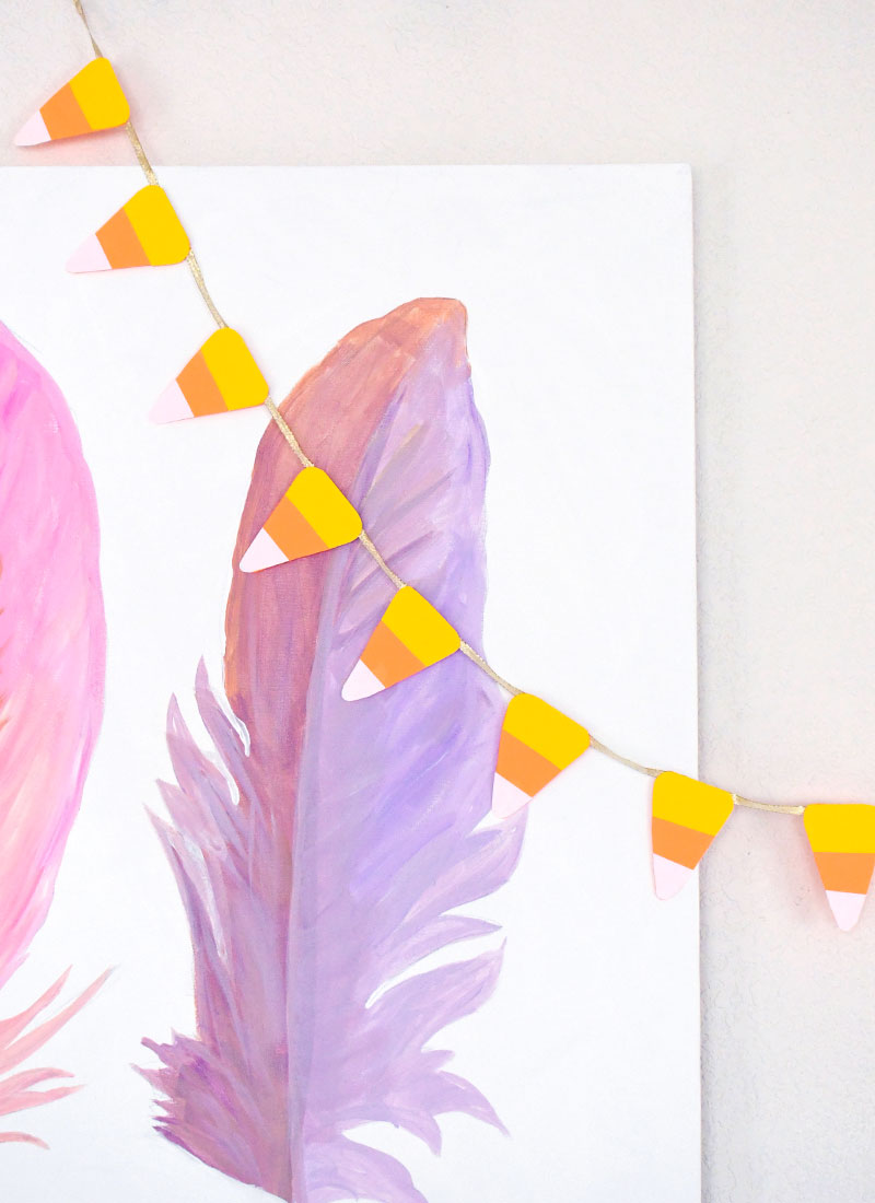 Super Cute DIY Candy Corn Pennant Banner