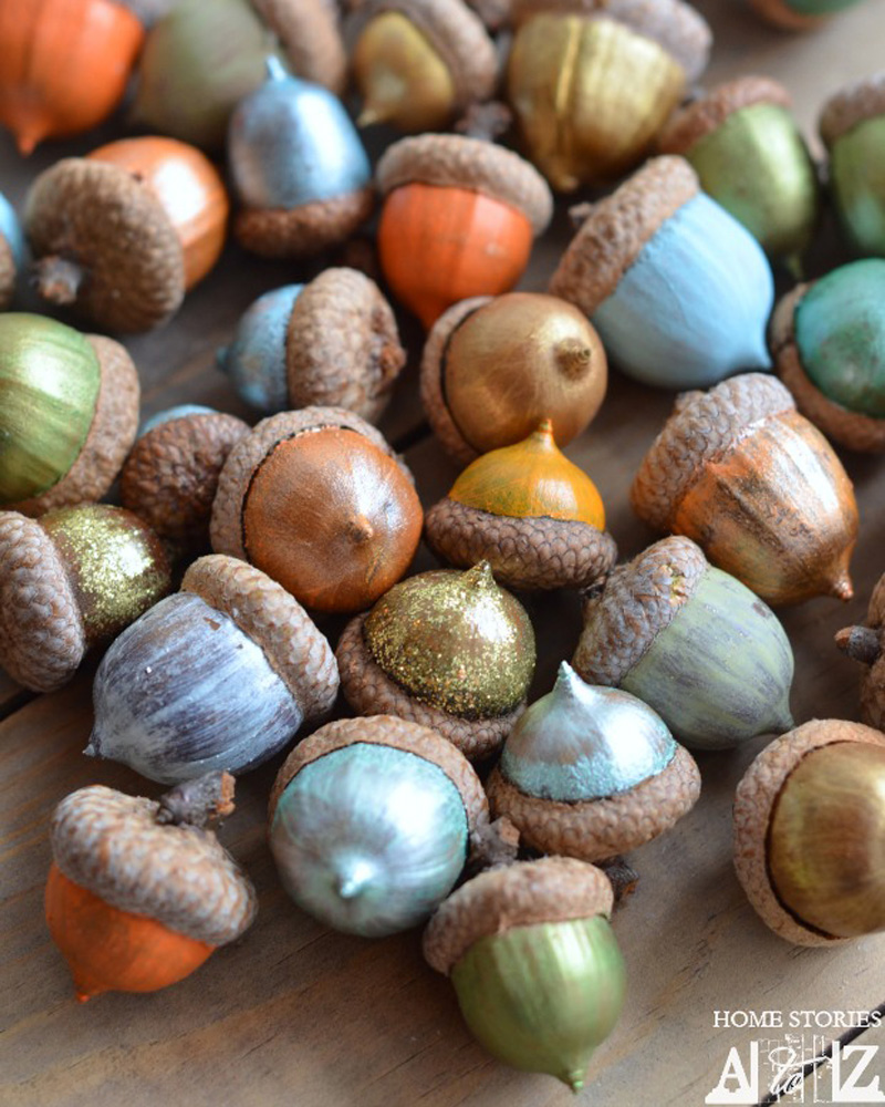 Learn how to paint acorns