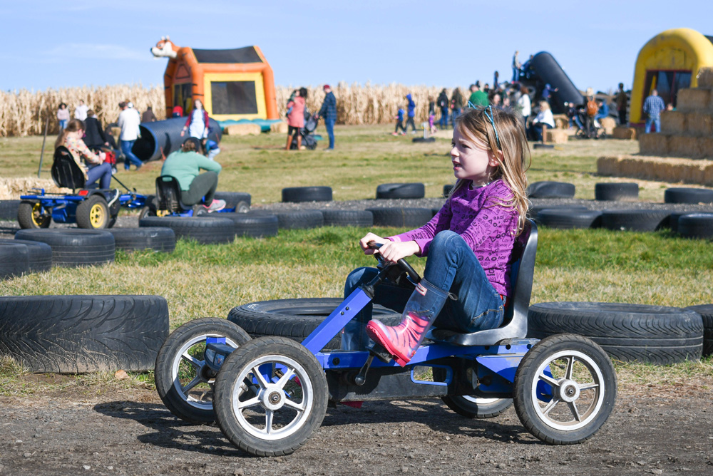 Manual go-kart activity - Things To Do at Your Local Pumpkin Farm