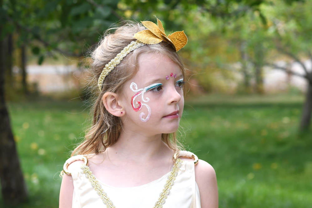 Girls Greek Goddess costume from Fred Meyer