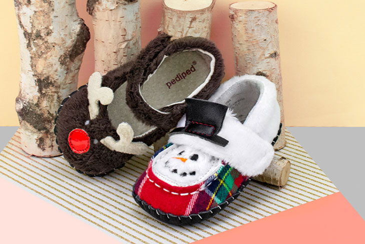 Adorable Pediped holiday exclusive baby shoes