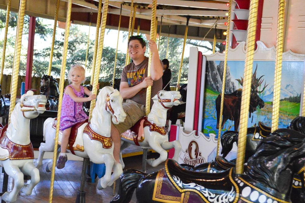 Silverwood Theme Park carousel
