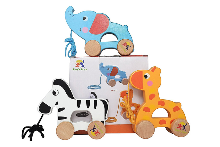Wooden pull along toy set - Baby Holiday Gift Guide