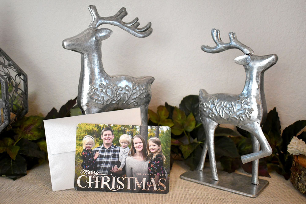 It's easy to personalize Christmas cards from Minted