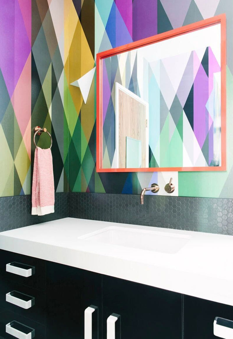 Add Color to your Bathroom with Wallpaper