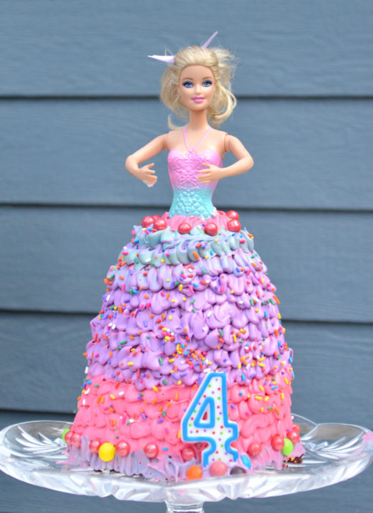 How to Make a Princess Doll Birthday Cake