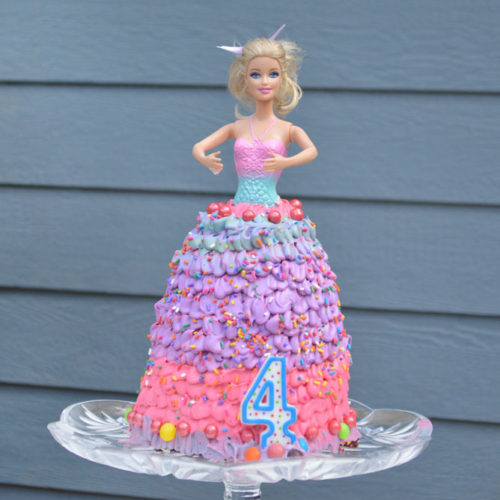 How to Make a Princess Doll Birthday Cake